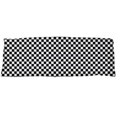 Sports Racing Chess Squares Black White Body Pillow Case (dakimakura) by EDDArt