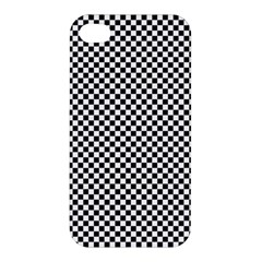 Sports Racing Chess Squares Black White Apple Iphone 4/4s Premium Hardshell Case by EDDArt