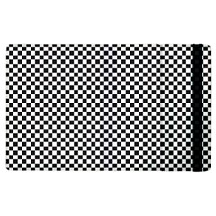 Sports Racing Chess Squares Black White Apple Ipad 2 Flip Case by EDDArt
