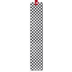 Sports Racing Chess Squares Black White Large Book Marks by EDDArt