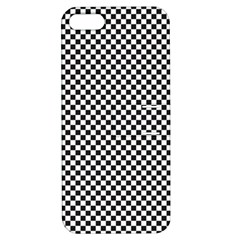 Sports Racing Chess Squares Black White Apple Iphone 5 Hardshell Case With Stand by EDDArt