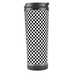 Sports Racing Chess Squares Black White Travel Tumbler by EDDArt