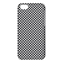 Sports Racing Chess Squares Black White Apple Iphone 5c Hardshell Case by EDDArt
