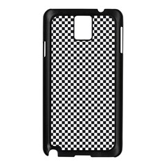 Sports Racing Chess Squares Black White Samsung Galaxy Note 3 N9005 Case (black) by EDDArt