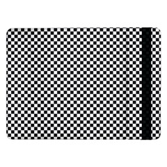 Sports Racing Chess Squares Black White Samsung Galaxy Tab Pro 12 2  Flip Case by EDDArt