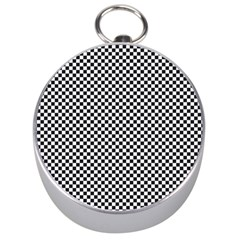 Sports Racing Chess Squares Black White Silver Compasses by EDDArt