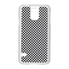 Sports Racing Chess Squares Black White Samsung Galaxy S5 Case (white) by EDDArt