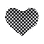 Sports Racing Chess Squares Black White Standard 16  Premium Flano Heart Shape Cushions Front