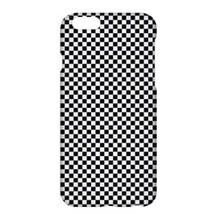 Sports Racing Chess Squares Black White Apple Iphone 6 Plus/6s Plus Hardshell Case by EDDArt