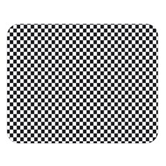 Sports Racing Chess Squares Black White Double Sided Flano Blanket (large)  by EDDArt