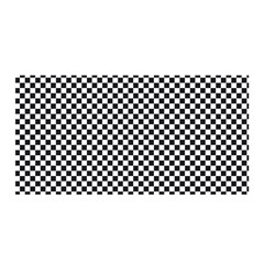 Sports Racing Chess Squares Black White Satin Wrap by EDDArt