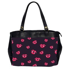 Pattern Of Vampire Mouths And Fangs Office Handbags (2 Sides)  by CreaturesStore