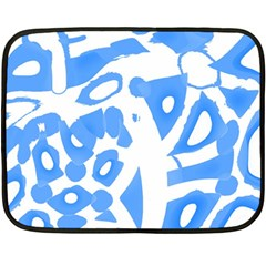 Blue Summer Design Double Sided Fleece Blanket (mini)  by Valentinaart