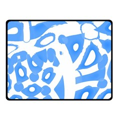 Blue Summer Design Fleece Blanket (small) by Valentinaart