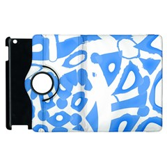 Blue Summer Design Apple Ipad 2 Flip 360 Case by Valentinaart