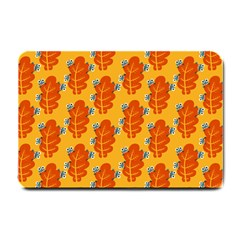 Bugs Eat Autumn Leaf Pattern Small Doormat  by CreaturesStore
