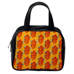 Bugs Eat Autumn Leaf Pattern Classic Handbags (one Side) by CreaturesStore