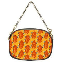 Bugs Eat Autumn Leaf Pattern Chain Purses (two Sides)  by CreaturesStore