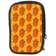 Bugs Eat Autumn Leaf Pattern Compact Camera Cases by CreaturesStore