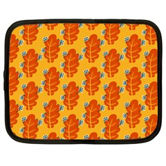 Bugs Eat Autumn Leaf Pattern Netbook Case (xl)  by CreaturesStore
