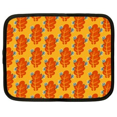 Bugs Eat Autumn Leaf Pattern Netbook Case (xxl)  by CreaturesStore