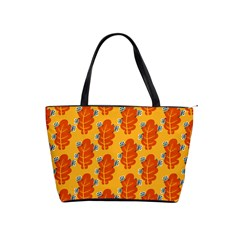 Bugs Eat Autumn Leaf Pattern Shoulder Handbags by CreaturesStore