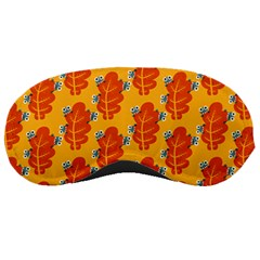 Bugs Eat Autumn Leaf Pattern Sleeping Masks by CreaturesStore