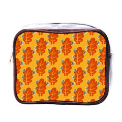Bugs Eat Autumn Leaf Pattern Mini Toiletries Bags by CreaturesStore