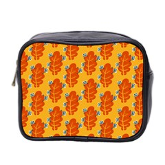 Bugs Eat Autumn Leaf Pattern Mini Toiletries Bag 2 Side