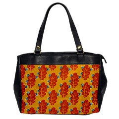 Bugs Eat Autumn Leaf Pattern Office Handbags by CreaturesStore