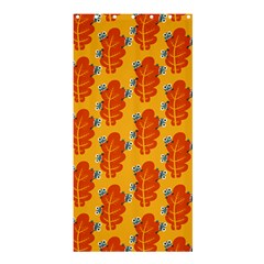 Bugs Eat Autumn Leaf Pattern Shower Curtain 36  X 72  (stall)  by CreaturesStore