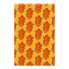 Bugs Eat Autumn Leaf Pattern Shower Curtain 48  X 72  (small)  by CreaturesStore