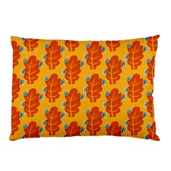 Bugs Eat Autumn Leaf Pattern Pillow Case (two Sides) by CreaturesStore
