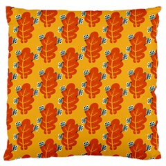 Bugs Eat Autumn Leaf Pattern Large Cushion Case (two Sides) by CreaturesStore
