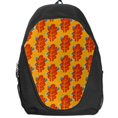 Bugs Eat Autumn Leaf Pattern Backpack Bag by CreaturesStore