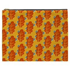 Bugs Eat Autumn Leaf Pattern Cosmetic Bag (xxxl)  by CreaturesStore