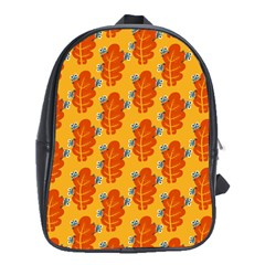 Bugs Eat Autumn Leaf Pattern School Bags (xl)  by CreaturesStore