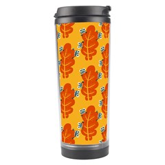 Bugs Eat Autumn Leaf Pattern Travel Tumbler by CreaturesStore