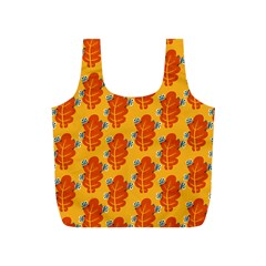 Bugs Eat Autumn Leaf Pattern Full Print Recycle Bags (s)  by CreaturesStore