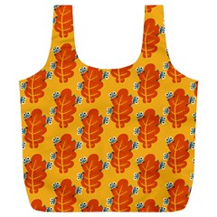 Bugs Eat Autumn Leaf Pattern Full Print Recycle Bags (l)  by CreaturesStore