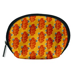 Bugs Eat Autumn Leaf Pattern Accessory Pouches (medium)  by CreaturesStore