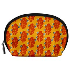 Bugs Eat Autumn Leaf Pattern Accessory Pouches (large)  by CreaturesStore