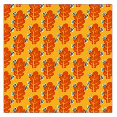 Bugs Eat Autumn Leaf Pattern Large Satin Scarf (square) by CreaturesStore