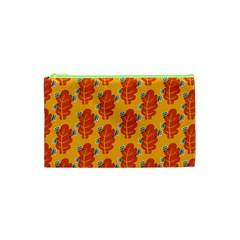 Bugs Eat Autumn Leaf Pattern Cosmetic Bag (xs) by CreaturesStore