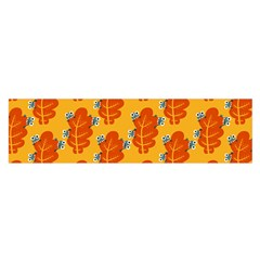 Bugs Eat Autumn Leaf Pattern Satin Scarf (oblong) by CreaturesStore