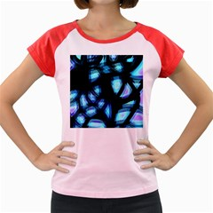 Blue light Women s Cap Sleeve T-Shirt