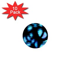 Blue Light 1  Mini Magnet (10 Pack)  by Valentinaart