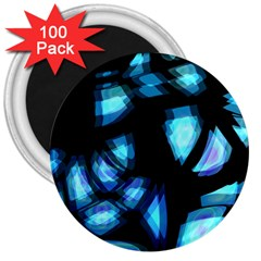 Blue light 3  Magnets (100 pack)