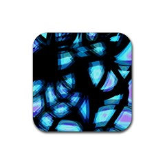 Blue light Rubber Coaster (Square)