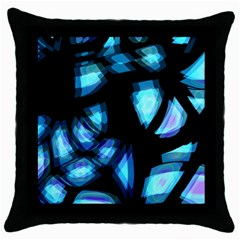 Blue light Throw Pillow Case (Black)